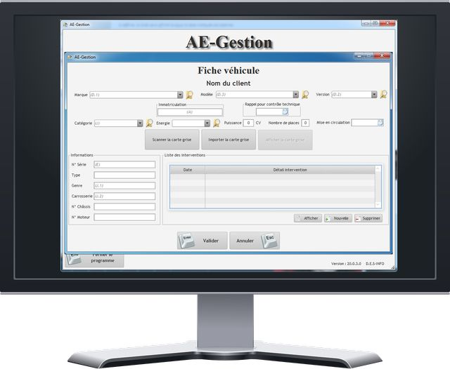 Ae gestion garage ae gestion for Logiciel gestion garage automobile